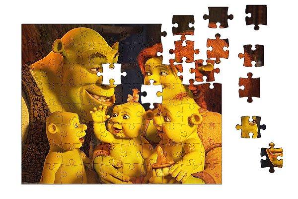 Quebra-Cabeça shrek and Babys 90 pçs - Nerd e Geek - Presentes Criativos