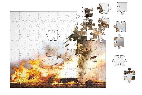 Quebra-Cabeça Call of Duty 90 pçs - Nerd e Geek - Presentes Criativos