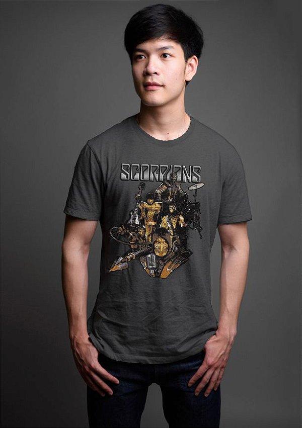 Camiseta Masculina  Scorpions - Mortal Kombat - Nerd e Geek - Presentes Criativos