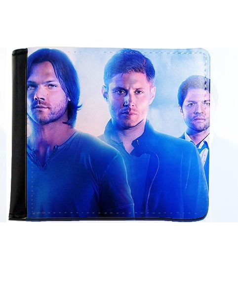 Carteira Supernatural - Dean, Sam e Castiel - Nerd e Geek - Presentes Criativos