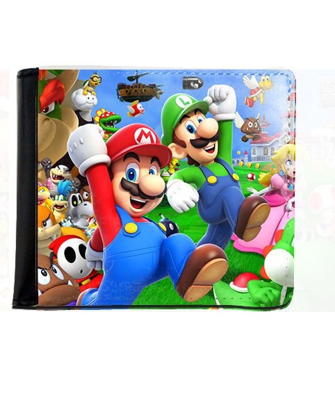 Carteira Super Mario e Luigi - Nerd e Geek - Presentes Criativos