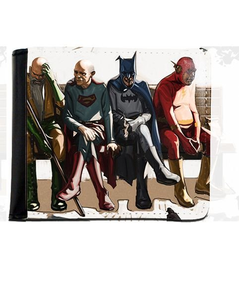 Carteira Batman, Supermen, Flash Idosos - Nerd e Geek - Presentes Criativos