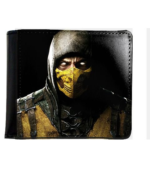Carteira Mortal Kombat Scorpion - Nerd e Geek - Presentes Criativos
