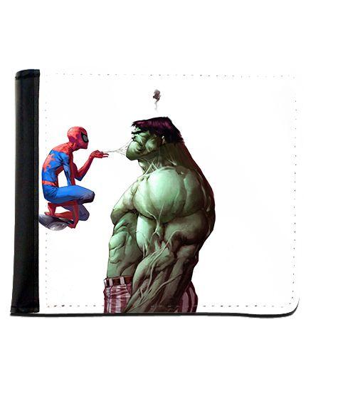 Carteira Homem Aranha e Hulk