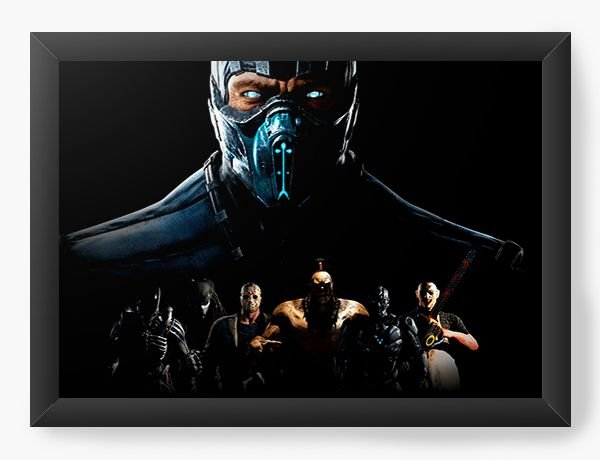 Quadro Decorativo A4 (33X24) Mortal Combate X - Nerd e Geek - Presentes Criativos