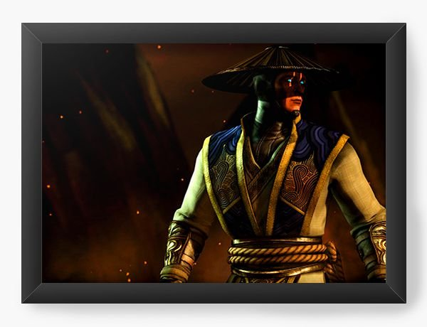 Quadro Decorativo Mortal Kombat X - Raiden