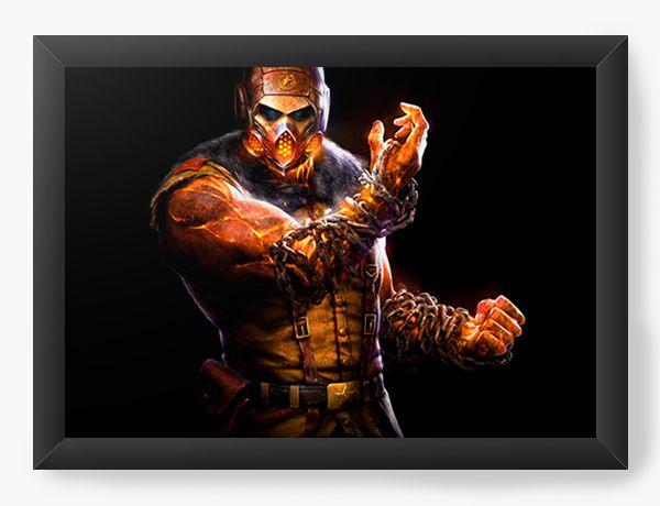 Quadro Decorativo Mortal Kombat X - Personagem - Nerd e Geek - Presentes Criativos