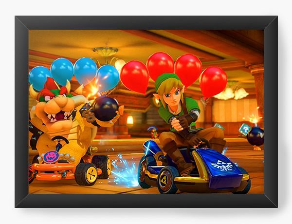 Quadro Decorativo The Legend of Zelda racing game
