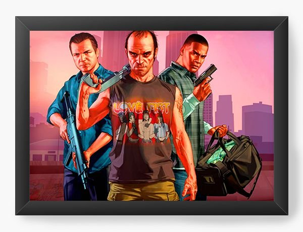 Quadro Decorativo Grand Theft Auto