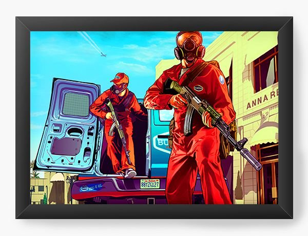Quadro Decorativo GTA - Grand Theft Auto - Nerd e Geek - Presentes Criativos