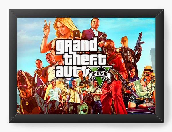 Quadro Decorativo GTA V - Nerd e Geek - Presentes Criativos