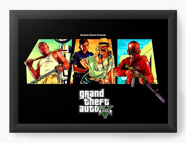 Quadro Decorativo GTA - Rockstar Games