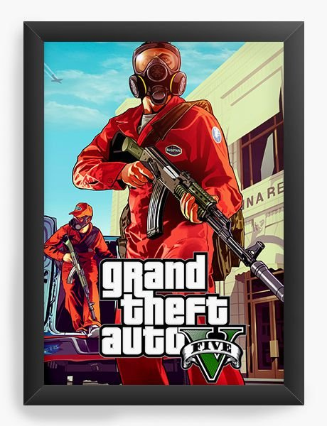 Quadro Decorativo The Grand Theft Auto Five - Nerd e Geek - Presentes Criativos