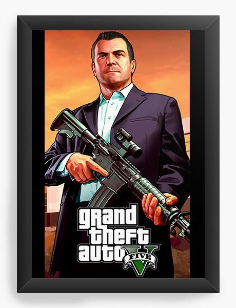 Quadro Decorativo GTA - Michael - Nerd e Geek - Presentes Criativos