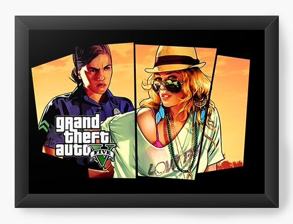 Quadro Decorativo GTA - girls - Nerd e Geek - Presentes Criativos