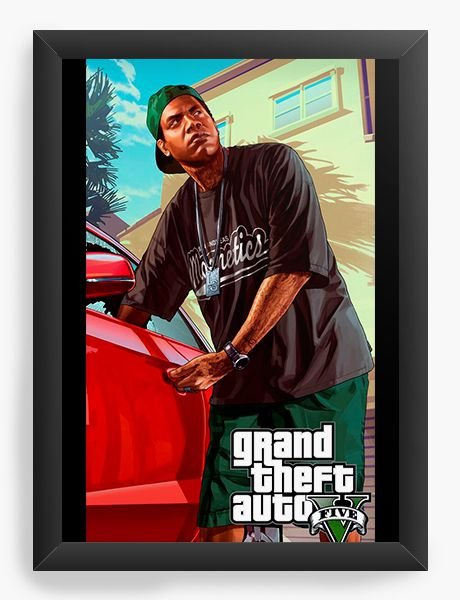 Quadro Decorativo GTA - Franklin - Nerd e Geek - Presentes Criativos