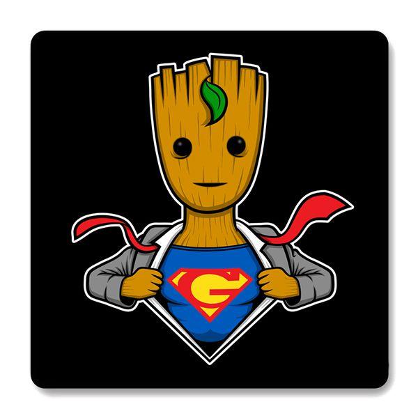 Imã de Geladeira Groot Super Men