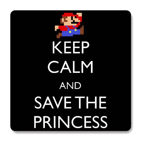 Imã de Geladeira Super Mario - Keep Calm - Nerd e Geek - Presentes Criativos