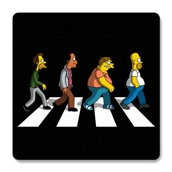 Imã de Geladeira Simpsons Beatles