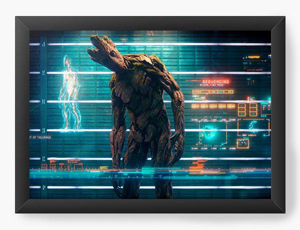 Quadro Decorativo Guardiões da Galáxia Groot personagem