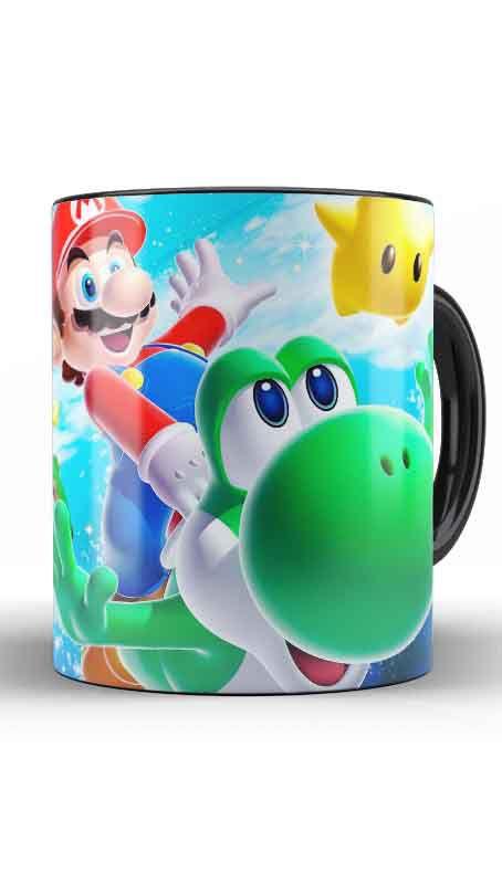 Caneca Super Mario Word E Yoshi