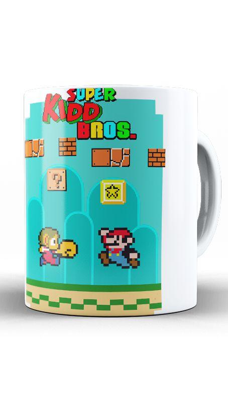Caneca Super Kidd Bros - Nerd e Geek - Presentes Criativos