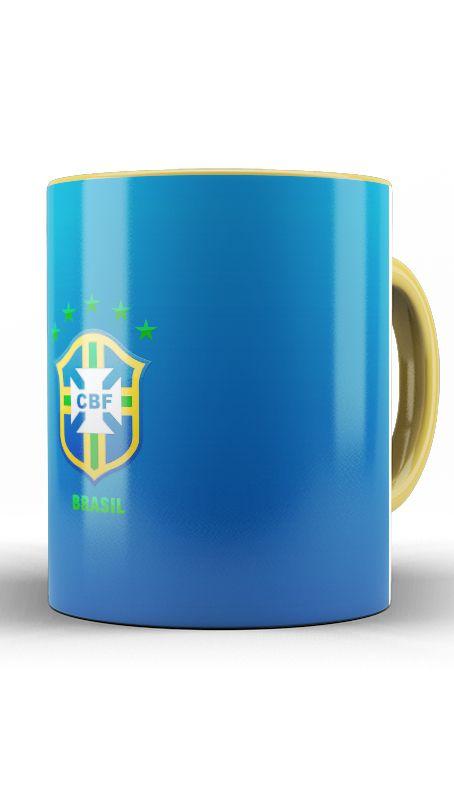 Caneca Seleção Brasileira - Nerd e Geek - Presentes Criativos