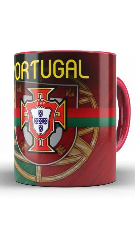 Caneca Seleção De Portugal - Nerd e Geek - Presentes Criativos