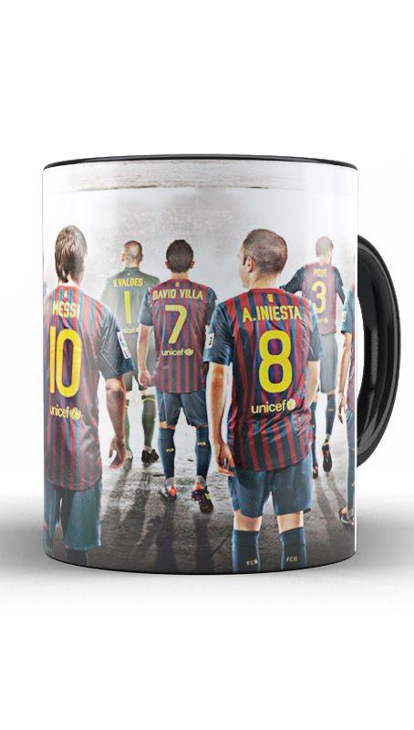 Caneca Barcelona - Messi e cia
