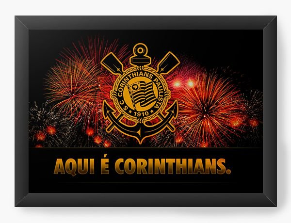 Quadro Decorativo Corinthians - Nerd e Geek - Presentes Criativos