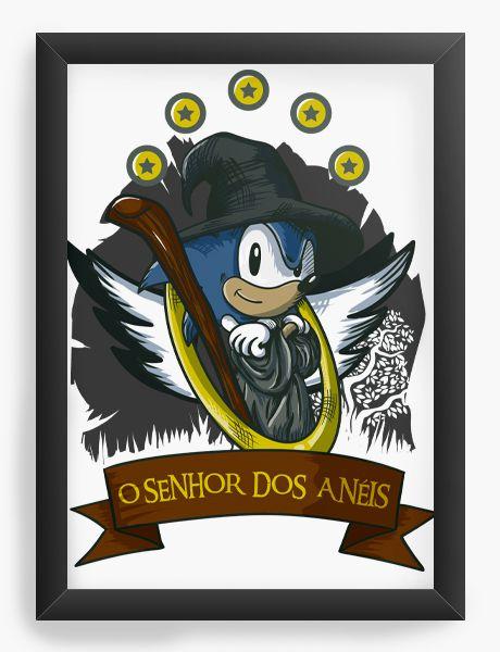 Quadro Decorativo Sonic O Senhor dos Aneis