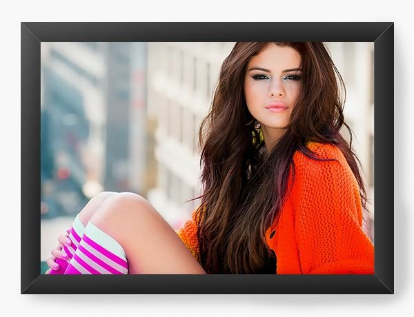 Quadro Decorativo Selena Gomez - Nerd e Geek - Presentes Criativos