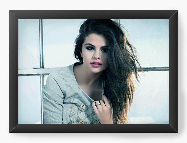 Quadro Decorativo Selena Gomez - Nerd e Geek - Presentes Criativos