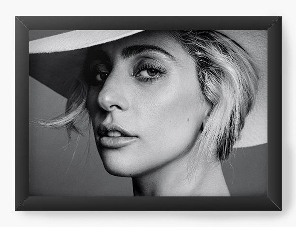 Quadro Decorativo Lady Gaga - Nerd e Geek - Presentes Criativos