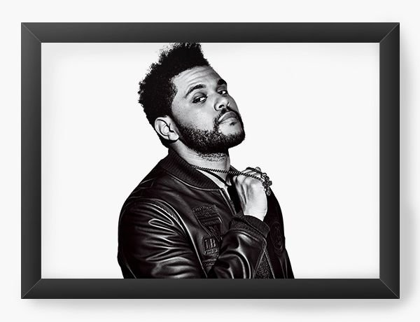 Quadro Decorativo The Weeknd - Nerd e Geek - Presentes Criativos