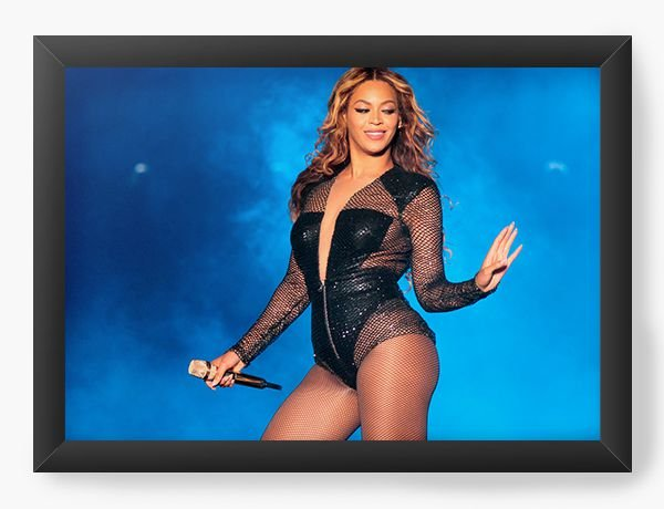 Quadro Decorativo Beyonce - Nerd e Geek - Presentes Criativos