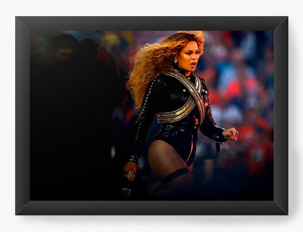 Quadro Decorativo A4 (33X24) Beyonce - Diva - Nerd e Geek - Presentes Criativos