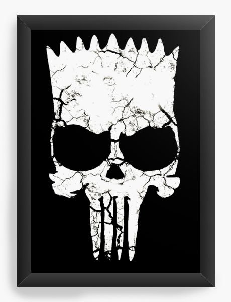 Quadro Decorativo A4 (33X24) Simpson Punisher - Nerd e Geek - Presentes Criativos