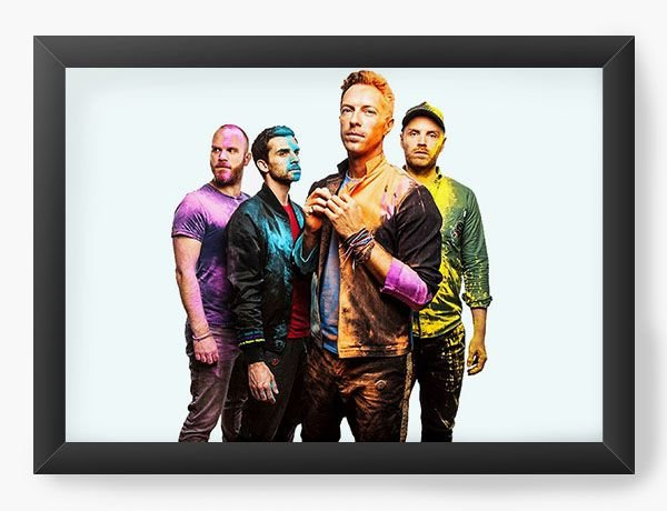 Quadro Decorativo Coldplay
