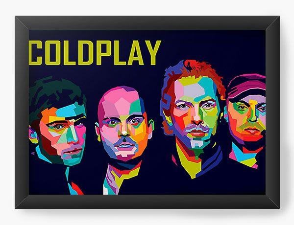 Quadro Decorativo Coldplay - Nerd e Geek - Presentes Criativos