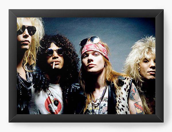 Quadro Decorativo A4 (33X24) Guns N' Roses - Nerd e Geek - Presentes Criativos