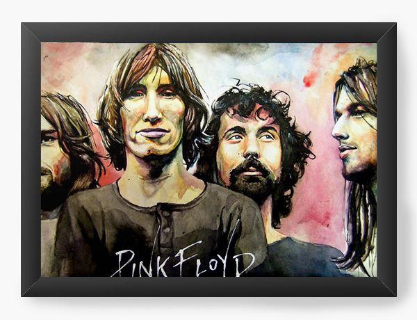 Quadro Decorativo Pink Floyd - Nerd e Geek - Presentes Criativos