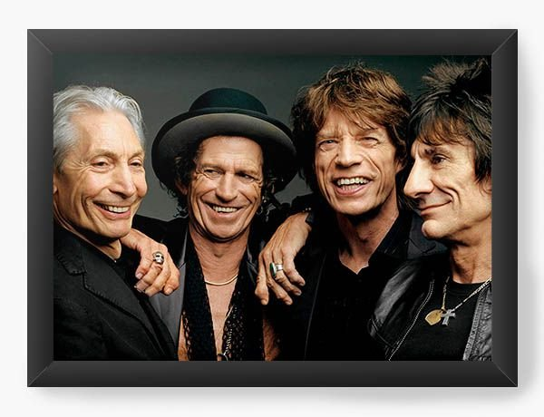 Quadro Decorativo The Rolling Stones - Nerd e Geek - Presentes Criativos