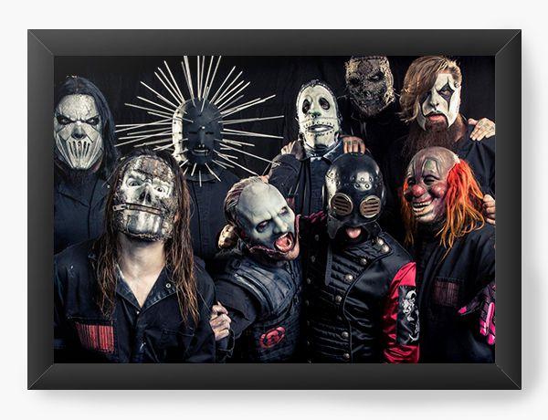 Quadro Decorativo Slipknot - Nerd e Geek - Presentes Criativos