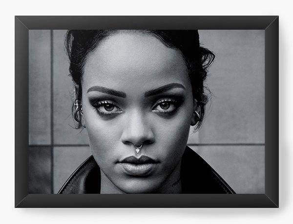 Quadro Decorativo Rihanna - Nerd e Geek - Presentes Criativos