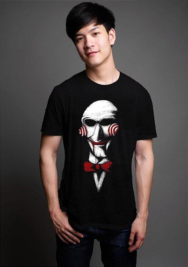 Camiseta Masculina  Jogos Mortais - Nerd e Geek - Presentes Criativos