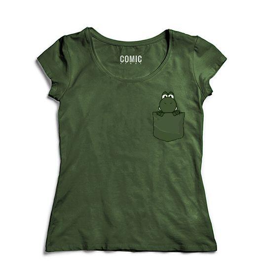 Camiseta Feminina Yoshi Bolso - Nerd e Geek - Presentes Criativos