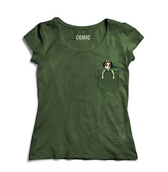 Camiseta Feminina Legend of Zelda Bolso