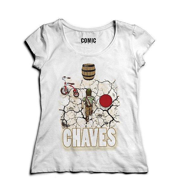 Camiseta Feminina Chaves - Nerd e Geek - Presentes Criativos