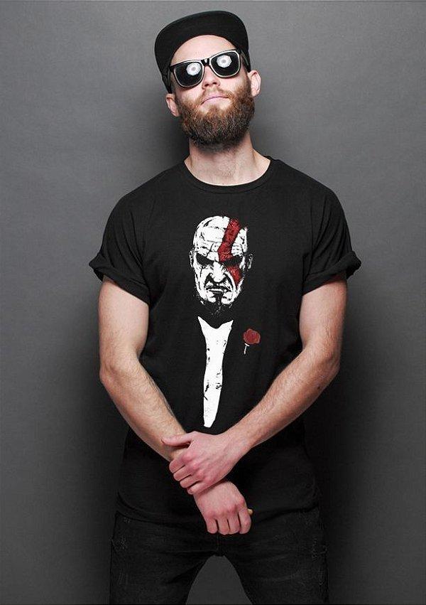 Camiseta Masculina  The God of War - Nerd e Geek - Presentes Criativos